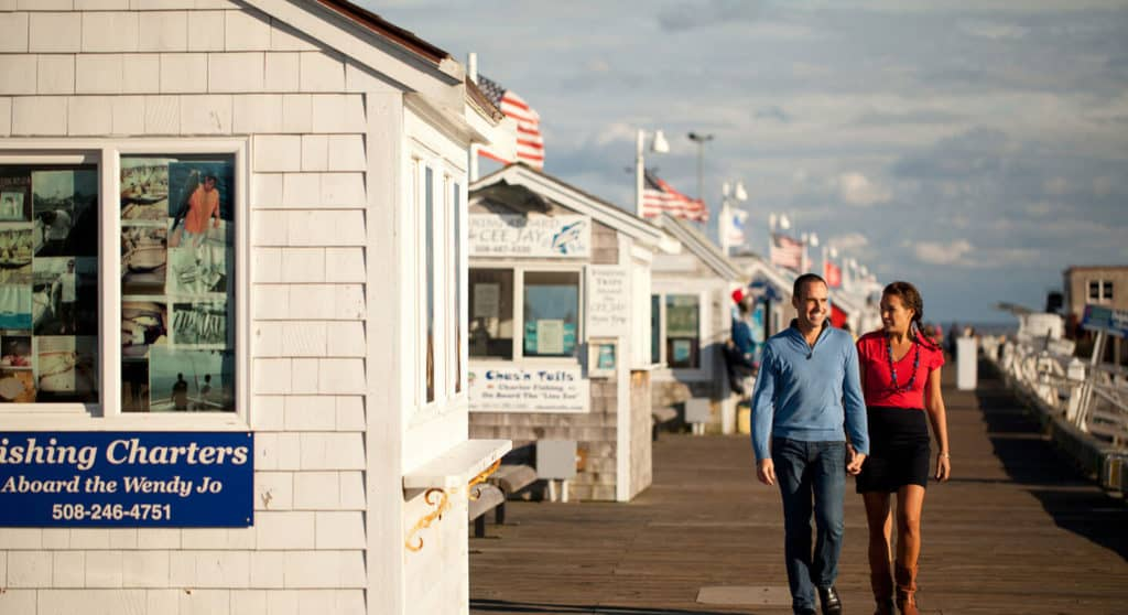 Book for 2019, Couple walking on the Pier in Provincetown