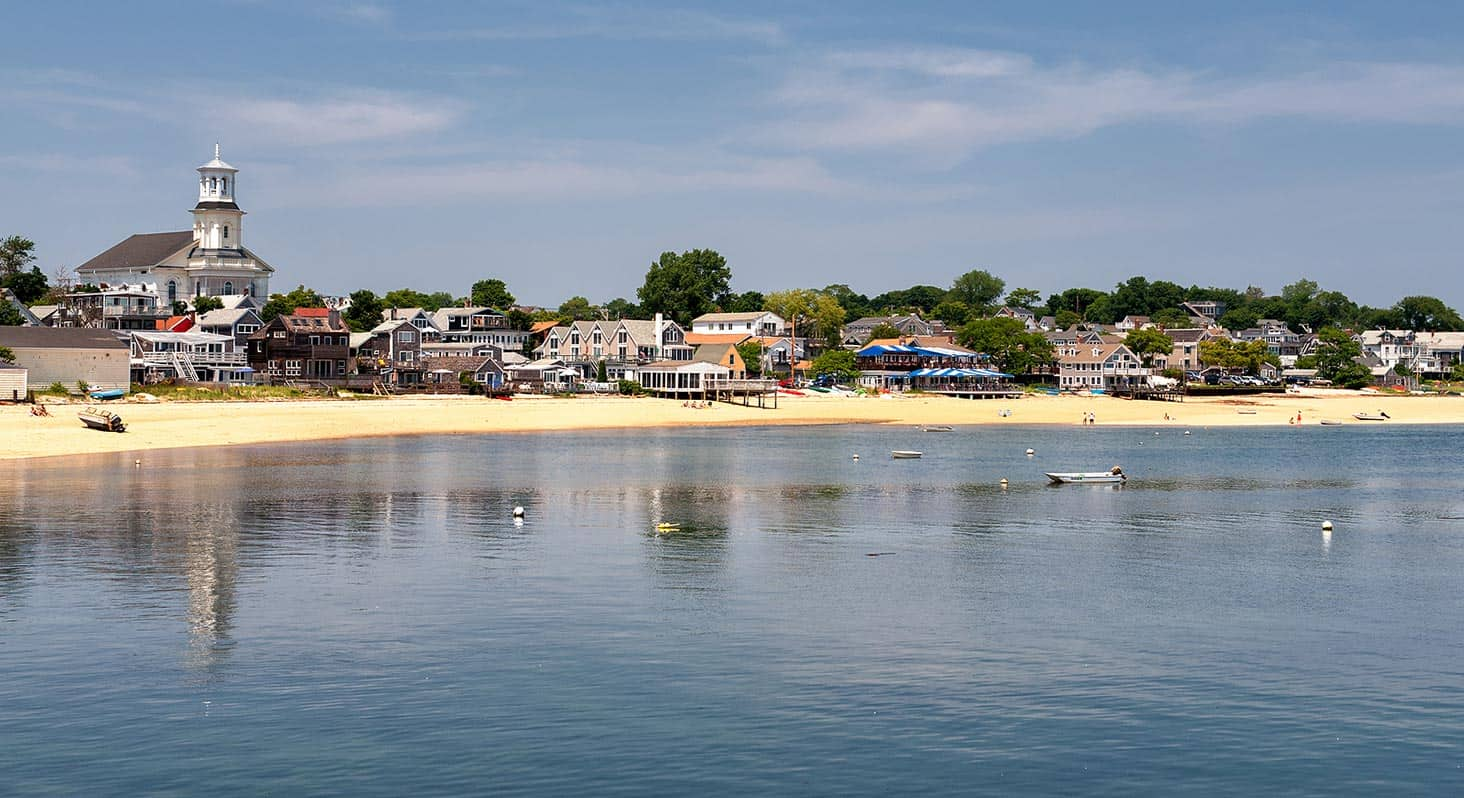 Summer at Cape Cod, view of Provincetown from the Pier.