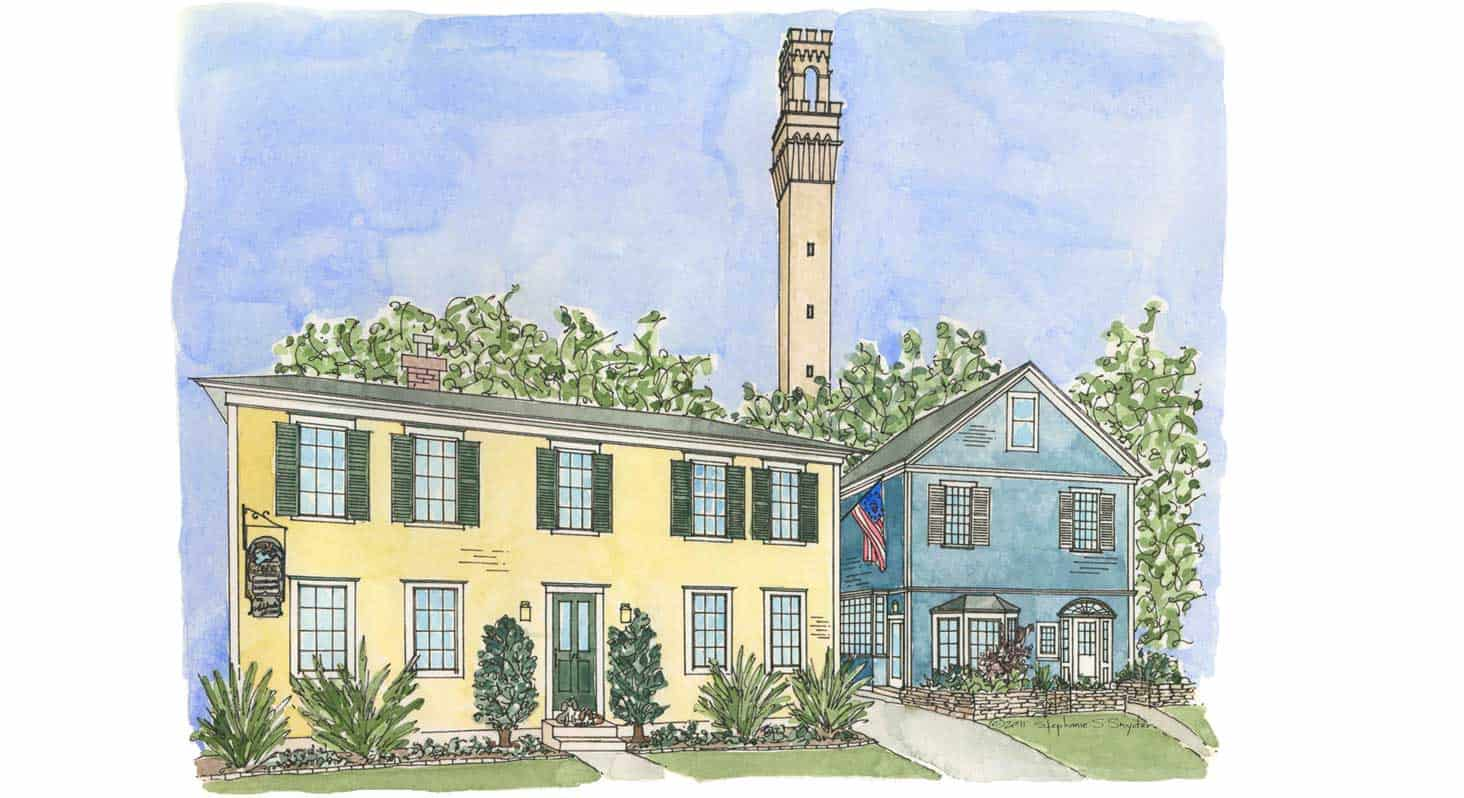 Provincetown Hotel, MA Illustration