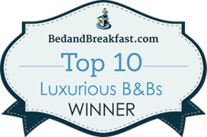 BedandBreakfast.com Top 10 Luxury B&Bs Winner