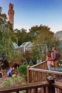 Garden at the Provincetown luxury inn