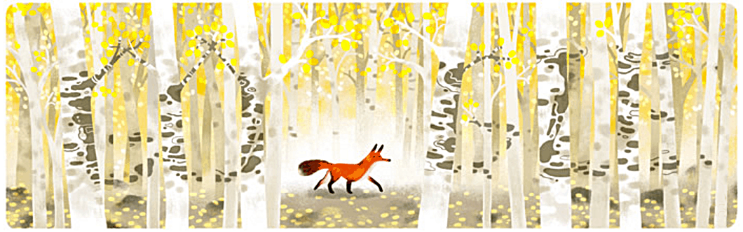 fox among the birches
