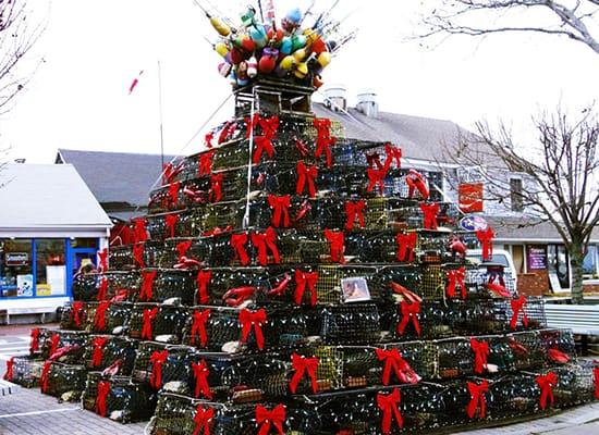 Lighting of the Lobster Pot Tree in Provincetown, MA
