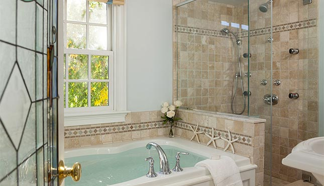 Jacuzzi bath at Gabriel's a Provincetown Hotel