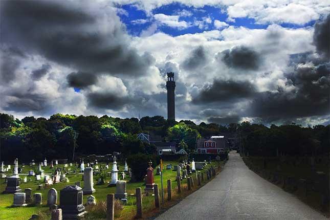 Spooky graveyard in Provincetown, MA