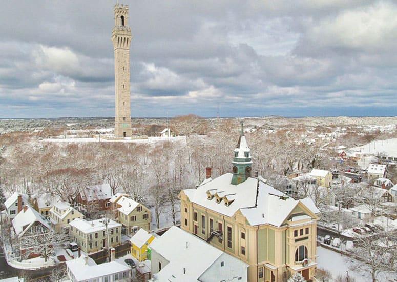 Winter in Provincetown Massachusetts