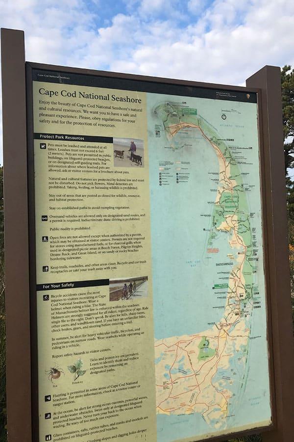 Cape cod national shore sign
