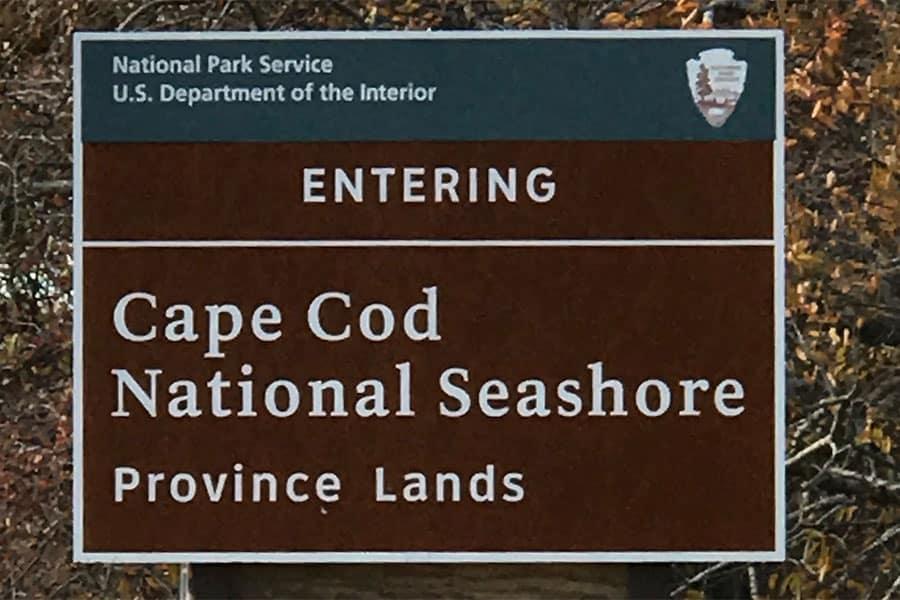 Cape Cod Seashore Sign
